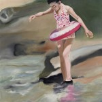 """""""der Schwimmring"""", 2013, Oel auf Baumwolle, 130 x 90 cm"""