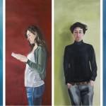 Sergej, Anne-Sophie, Fine, Yarina, 2011 – 2012, jeweils 180 x 80 cm, Oel auf Baumwolle