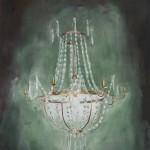 """""""Kronleuchter"""", 2011, Oel auf Baumwolle, 170 x 140 cm"""