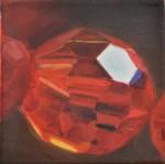 """""""o.T."""" aus dem Werkzyklus """"alles was glänzt"""", 2016, 15 x 15 cm, Oel auf Leinwand"""
