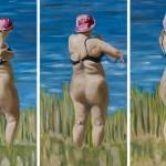 """""""Ein Sommer am See"""", 2008, Oel auf Baumwolle, 3 x 180 x"""