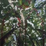 Flüstern C, 2018, Oel auf Leinwand, 200 x 148 cm
