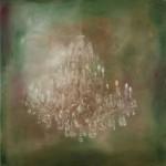 Fluestern I, 2017, Oel auf Leinwand, 100 x 100 cm