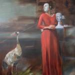 """looking for Noah"" I, 2019, 250 x 200 cm, Oel auf Leinwand"