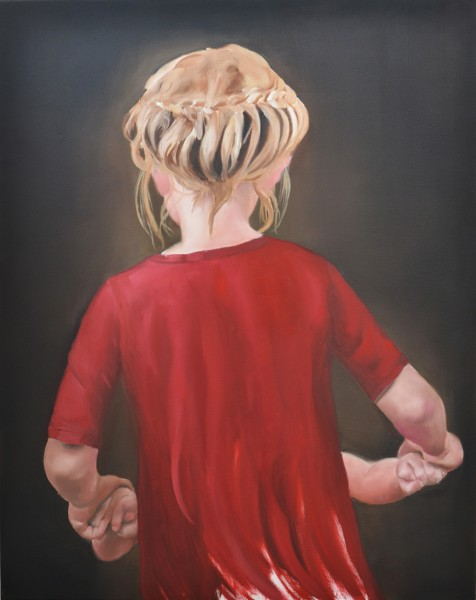"""Sisters"", 2014, Öl auf Baumwolle, 95 x 75cm"