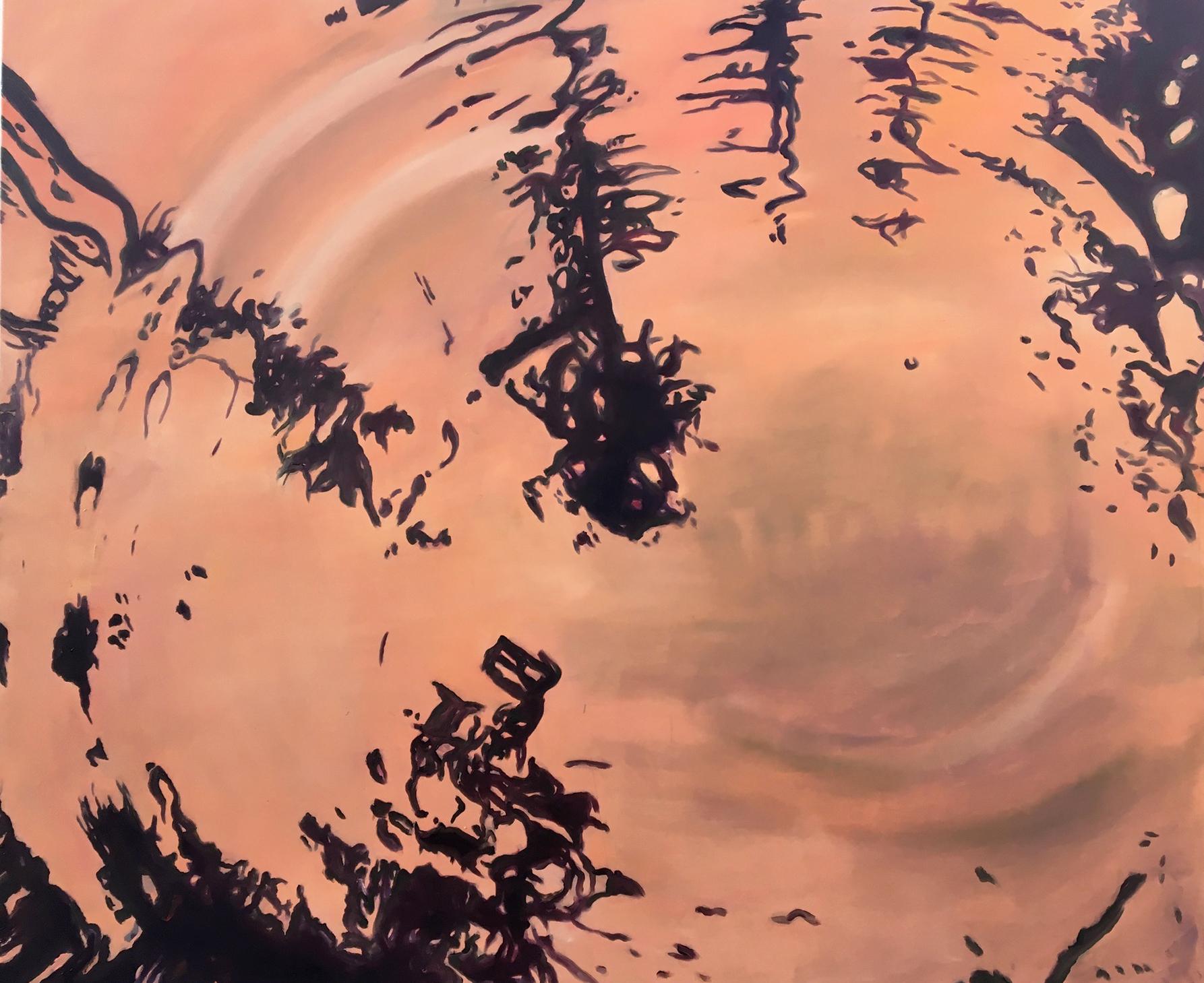 """""""Herbstwasser"""" Nr. 5, 2020, aus dem Werkzyklus """"Ein Sommer am See"""", 2009 -2020, 140 x 170 cm, Oel auf Leinwand"""